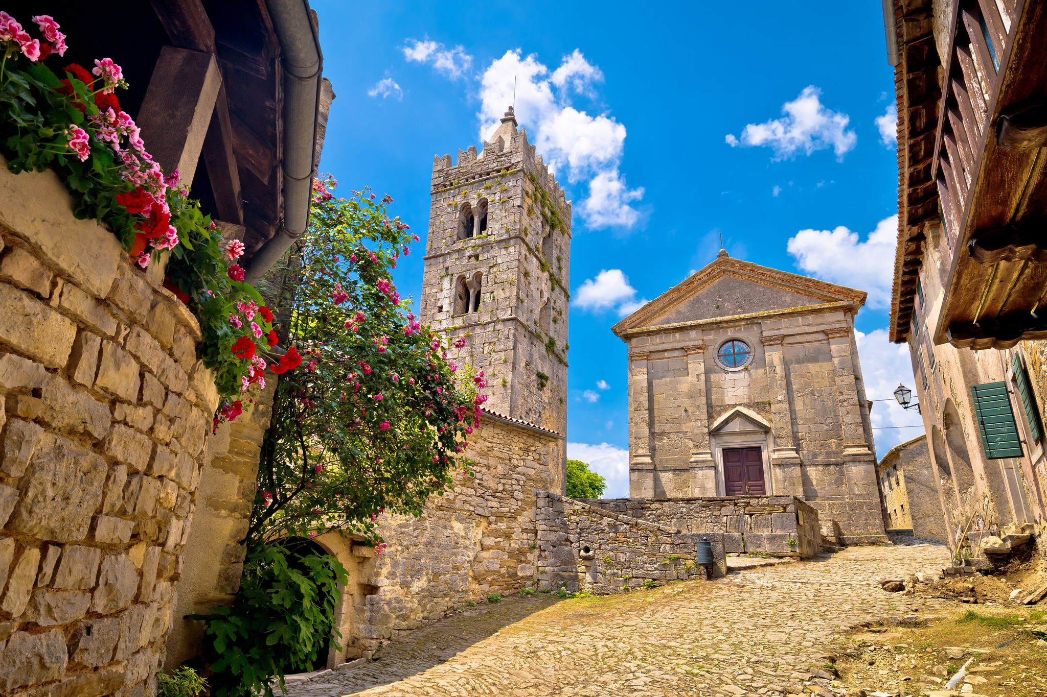 Hum Croatia walled town in Istria