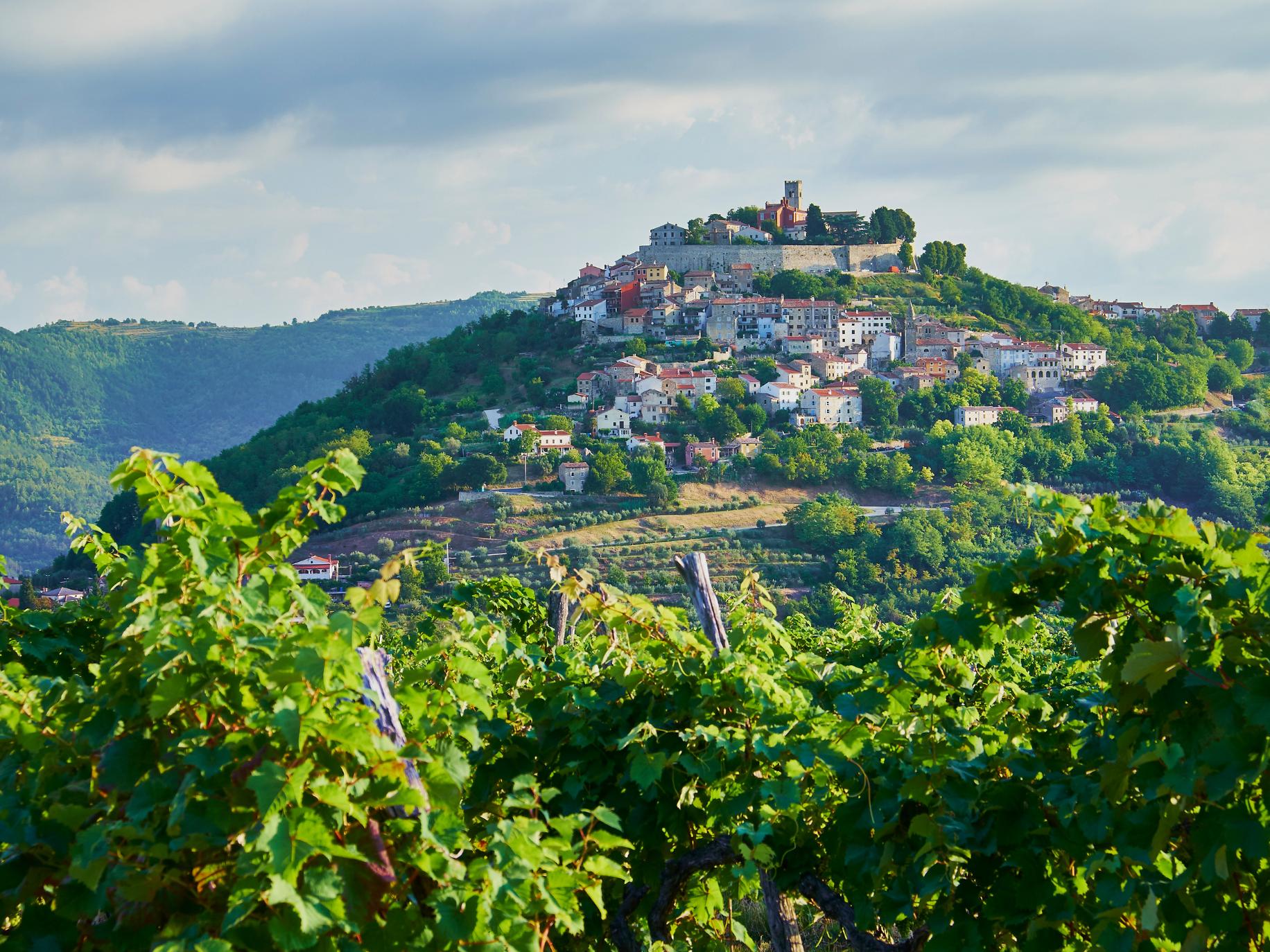 Motovun, Croatia charming hilltop town in Istria