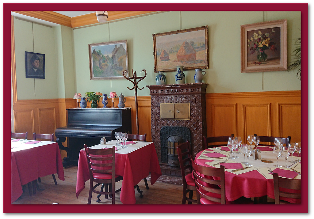 Inside the restaurant at the Hotel BAUDY, Giverny, France