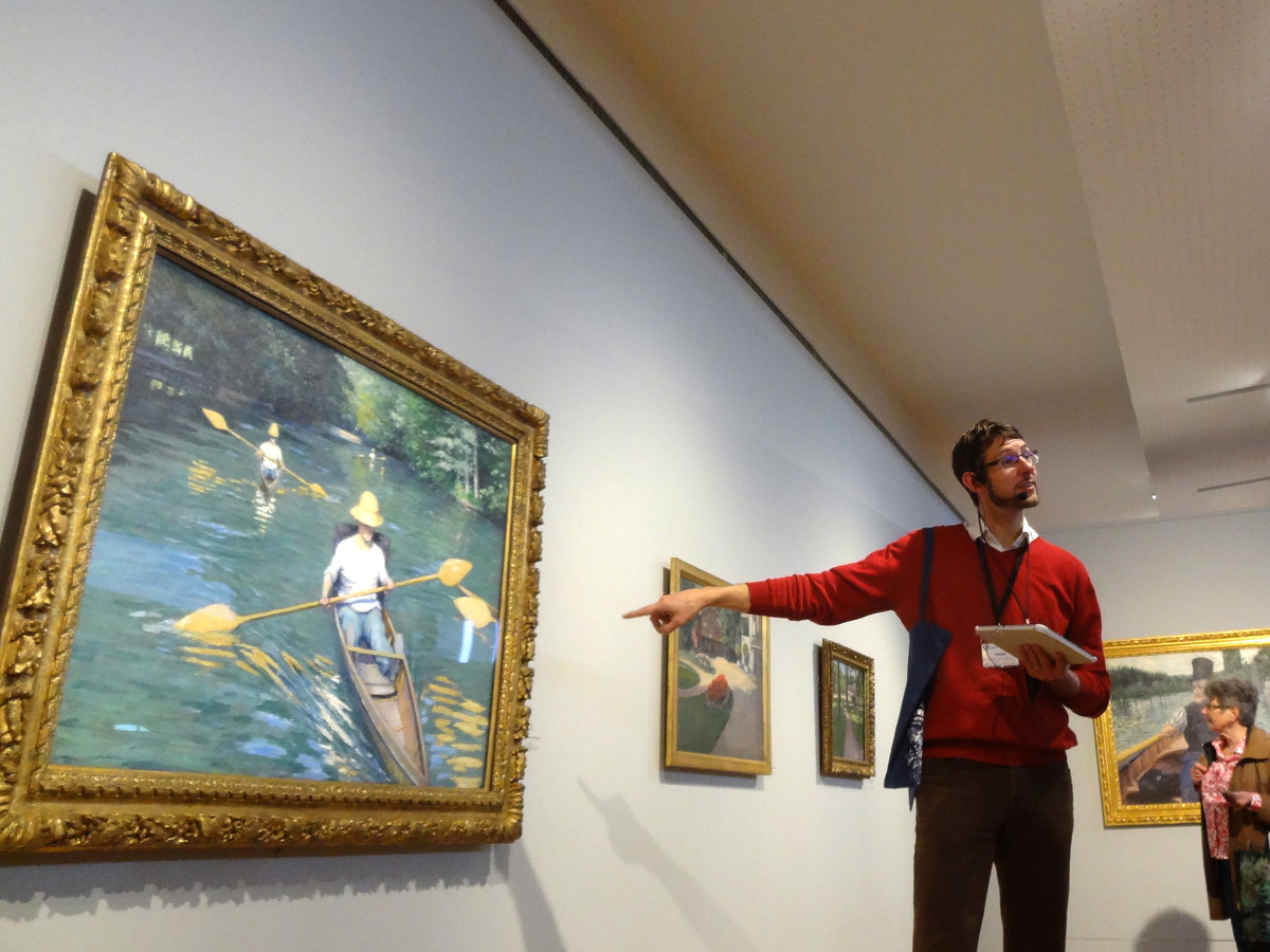 Inside the Museum of Impressionism in Giverny