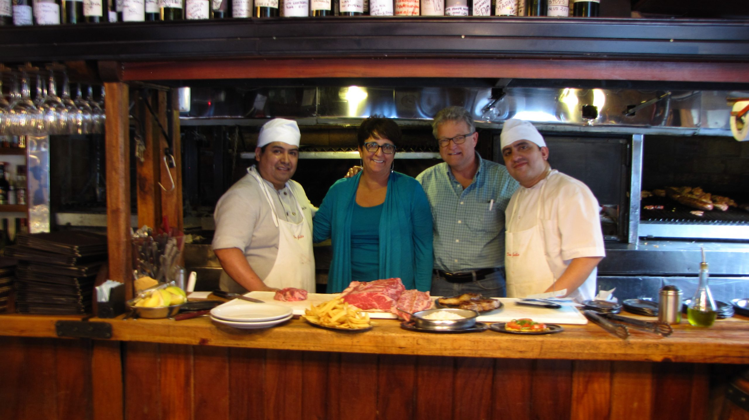 Cindy and Charlie with the chefs at Don Julio restaurant