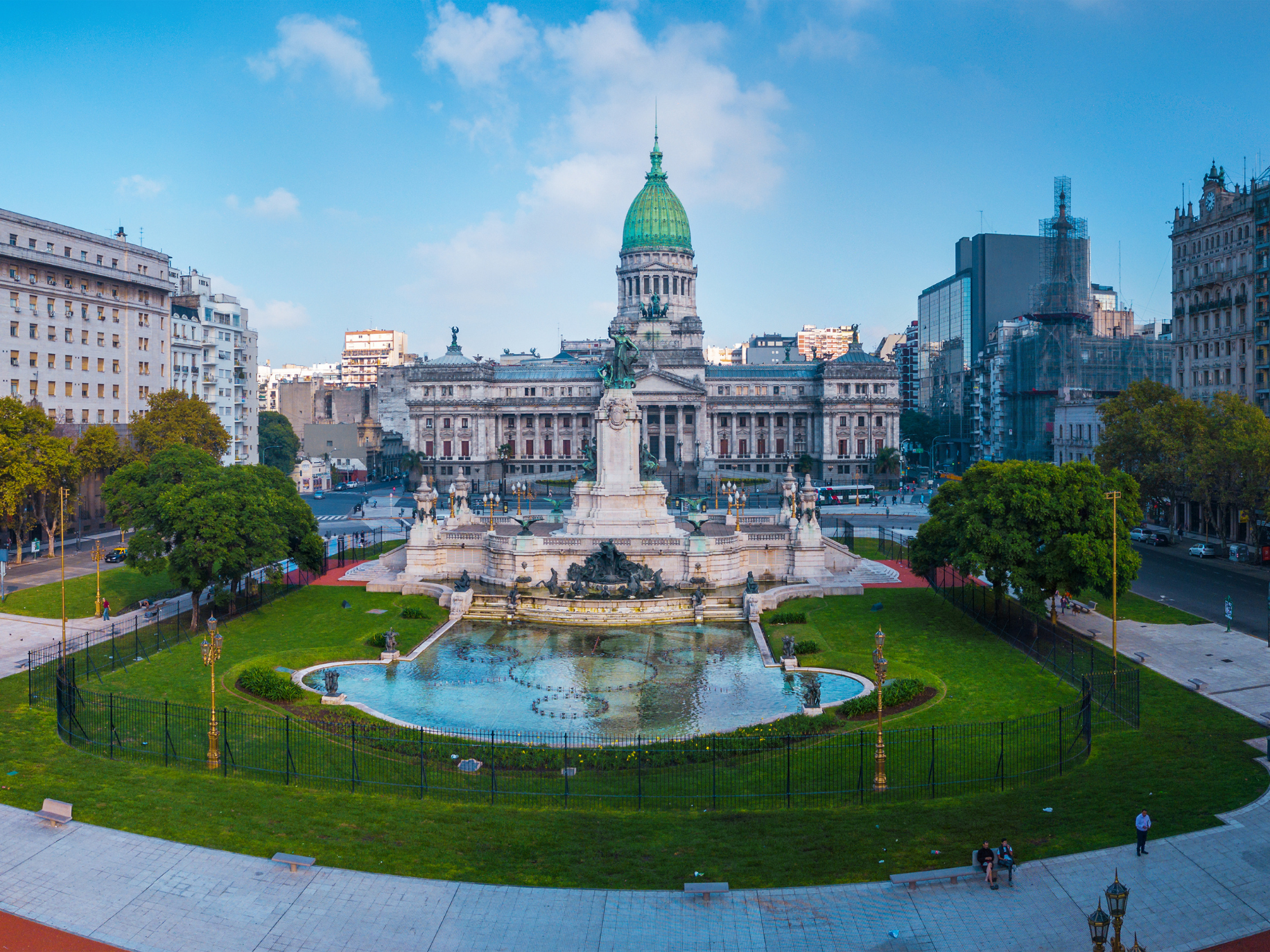 Panorama picture of Buenos Aires near Congressional Square