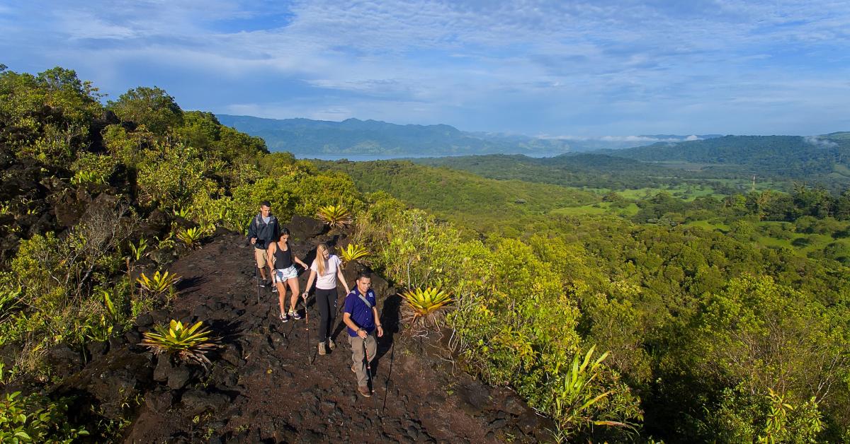 Costa Rica Arenal Volcano lava trail hiking