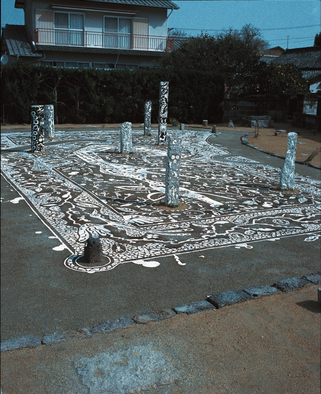 View of Stone Mason's House. Art House Project Naoshima Japan