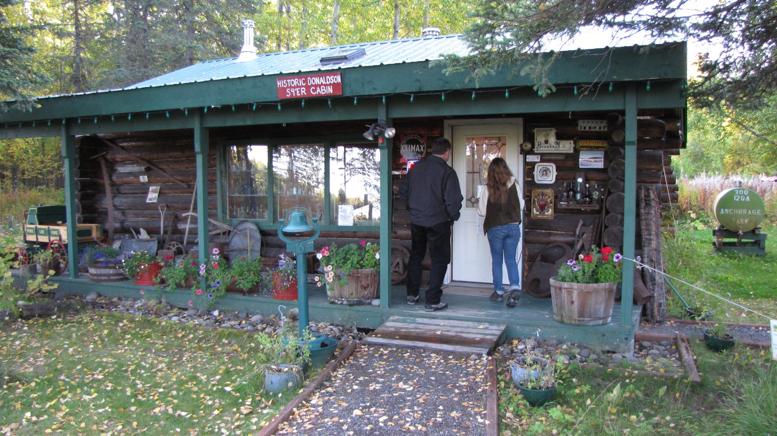 Historic homestead cabin in Alaska