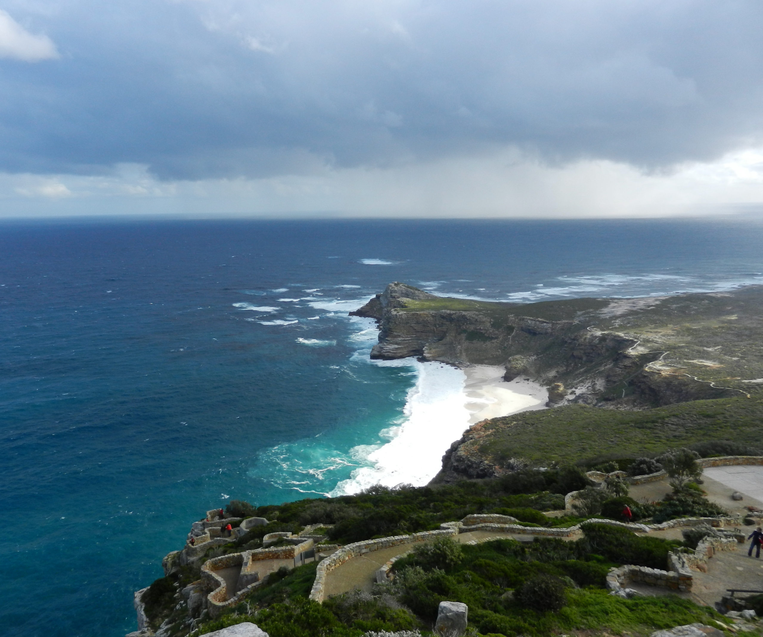View of the coastline at Cape Point, South Africa. Image Cindy Dykman