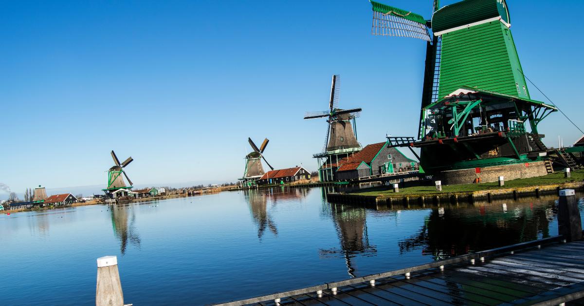 The windmills and village of Zaanse Schans