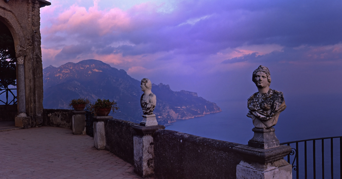 Stunning view from Ravello's Villa Cimbrone