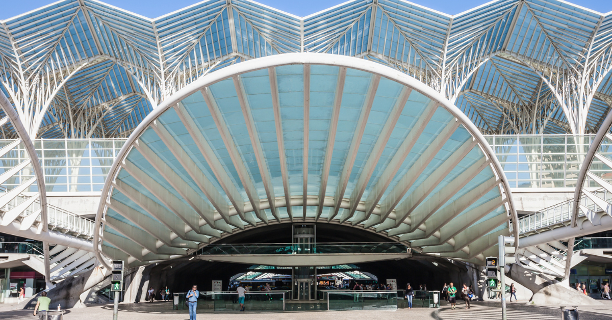 Calatrava's Oriente Station, Lisbon, Portugal