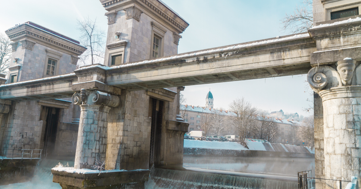 Plecnik's Ljubljianica River Lock Gate