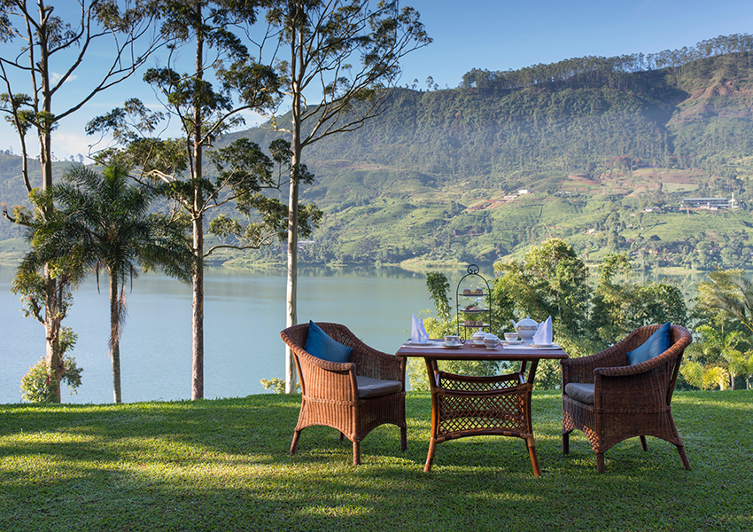 View from a luxury bungalow at Ceylon Tea Trails, a Relais & Chateaux property