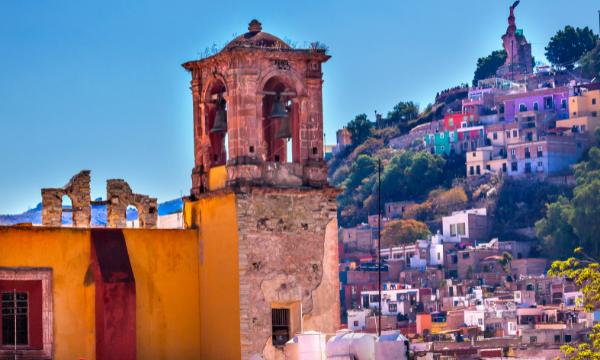 The Statue of Pipila overlooking Guanajuato, Mexico